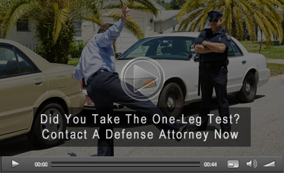 One Leg Stand Field Sobriety Test